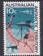 Australian Antarctic Territory  ASC 13 1966 Decimal Definitives 10c Wind Gauge MNH - Unused Stamps