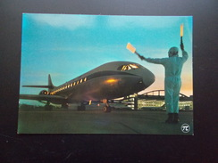 ARRIVEE D'UNE CARAVELLE Aéroport D'Orly  1970 - 1946-....: Era Moderna