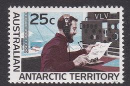 Australian Antarctic Territory  ASC 16 1966 Decimal Definitives 25c Radio MNH - Unused Stamps