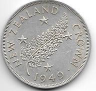 *new Zealand 1 Crown 1949  Km 22  Xf+ - Nouvelle-Zélande