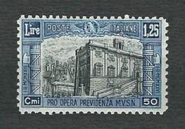 ITALIA 1928 - Pro Opera Previdenza Milizia - 1.25 L. + 50 C. Azzurro E Nero -  MH - Sa 222 - Nuovi
