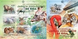 MOZAMBIQUE   2012  Animals And Fauna, Riga ZOO  Sheetlet+SS  Perf. - Stamps