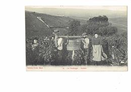 Cpa - Les Vendanges - Porteurs - Collection Prudon Mâcon - Vendangeurs Vignes - 1912 - Vigne