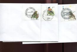 Belgie Andre Buzin Birds FDC 2397 2577 2461 Brussel - 1985-.. Oiseaux (Buzin)