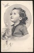 BAMBINI (60) - CHILDREN  KINDER  ENFANTS - CARTOLINA VIAGGIATA NEL 1942 CON TIMBRI CENSURA REGIA MARINA - PIEGA CENTRALE - Ritratti