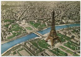 75 PARIS - 8125 - Edts Spéciale De La Tour Eiffel - Vue Aérienne (Cliché Robert Durandaud) (1) (recto-verso) - Tour Eiffel