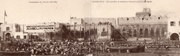 74Db  Maroc Casablanca Grande Cpa Double Panoramique Bataillon De Tirailleurs Embarquant Pour Alger - Maroc