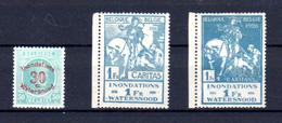 1926   Inondations De La Meuse à Liège,  Yv. 237 / 239 ** De Belgique , Cote 20 €, - Belgique