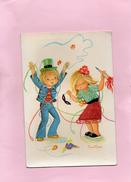 Carte Postale Brodée - Enfants - Brodées
