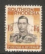 002979 Southern Rhodesia 1937 1/6d FU - Southern Rhodesia (...-1964)