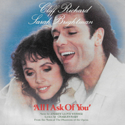 Cliff Richard & Sarah Brightman 45t. SP * All I Ask Of You* - Musicals