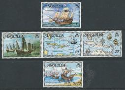 Anguilla 1973 - Columbus Discovers America SG159, 160a & 163 MNH Cat £7.60 SG2015 - Anguilla (1968-...)