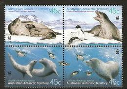 Australian Antarctic Territory  ASC 144-147 2001 Seals Block 4 - Unused Stamps