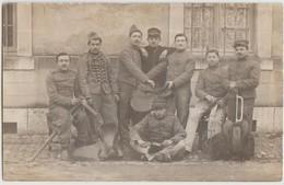 CPA PHOTO 26 VALENCE Caserne Groupe Soldats Militaires Du 12° Régiement De Chasseurs à Cheval Selles - Valence