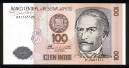 Peru 1987, 100 Intis - UNC - B1266512E - Pérou