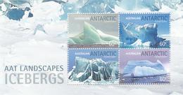 Australian Antarctic Territory  ASC 189MS 2011 Landscapes Icebergs Souvenir Sheet MNH