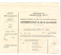 Avertissement Extrait Des Rôles Des Taxes Provinciales Commune Et Bureau De Court-Saint-Etienne PR4457 - 1900 – 1949
