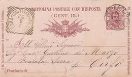 San Felice Circeo. 1892. Annullo Grande Cerchio  + Annullo Tondo Riquadrato PRATOLA SERRA (AVELLINO) In Arrivo. - Marcophilia