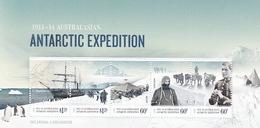 Australian Antarctic Territory  ASC 203MS 2012 Antarctic Expedition II Arrival And Exploration MIniature Sheet MNH