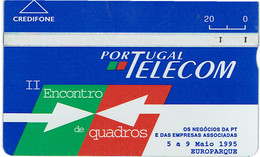 PHONECARDS-- PORTUGAL-OPTICAL- 20 U-- II ENCONTRO QUADROS PT - Portugal