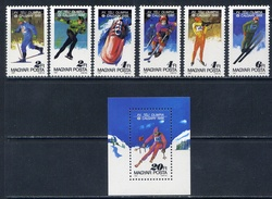 HUNGARY 1987 3929-3934 + BL.193 OLYMPIC GAMES OF CALGARY-88