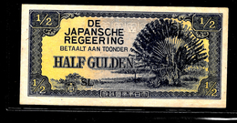 Netherlands Indies-Japanese Occupation-Half Gulden (1942). - Japan