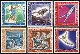 MONACO 736 à 741 JO De 1968 - Zomer 1968: Mexico-City