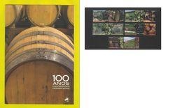 ....  BROCHURE COVER 10stamps WINES WINE PORTUGAL VINHOS VINO VINE VINES - Wijn & Sterke Drank