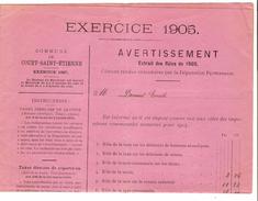 Avertissement Extrait Des Rôlesde La Commune De Court-Saint-Etienne En 1905 PR4454 - Belgique