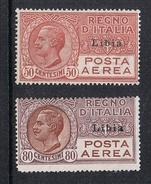 ITALIE LIBYE AERIEN N°1 ET 2 N** - Libia