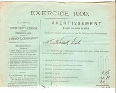 Avertissement Extrait Des Rôles De La Commune De Court-Saint-Etienne En 1909 PR4469 - 1900 – 1949