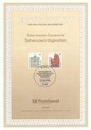 BRD / First Day Sheet (1990/20) 5300 Bonn 1: Tourist Attractions (Castle Rastatt; Island Helgoland)