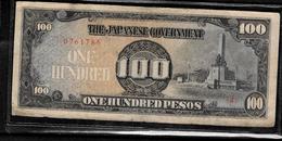 Vintage WWII Japanese Invasion Money 100 Pesos Banknote - Japan
