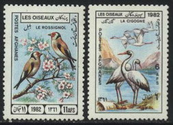 1982 Afghanistan Birds, Sparrow, Cranes, Fauna, Wildlife (2v) MNH (M-382)