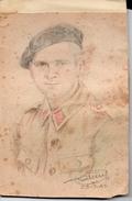 Guerre 1914-1918 - Dessin D'un Militaire 1941 - Historische Dokumente