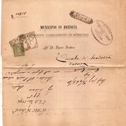 1894 LETTERA CON ANNULLO BRESCIA  + VERIFICATO - 1878-00 Umberto I