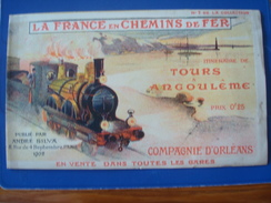La France En Chemin De Fer : Itinéraire De TOURS à Angoulême En 1903 - Compagnie D'Orléans No 2 De La Collection - Europe