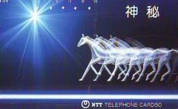 Télécarte Japon * CABALLO  * CHEVAL * HORSE * PHONECARD JAPAN  (540) TELEFONKARTE PFERD * PAARD - Caballos