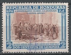 Honduras 1952. Scott #C204 (U) Columbus At Court, 500th Birth Anniv. Of Isabella I Of Spain * - Honduras