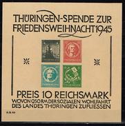 Thüringen Block 2, Fälschung Geprüft Ströh BPP - Sowjetische Zone (SBZ)