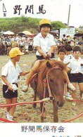 Télécarte Japon * CABALLO  * CHEVAL * HORSE * PHONECARD JAPAN  (546) TELEFONKARTE PFERD * PAARD - Paarden