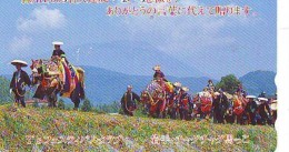Télécarte Japon * CABALLO  * CHEVAL * HORSE * PHONECARD JAPAN  (549) TELEFONKARTE PFERD * PAARD - Paarden