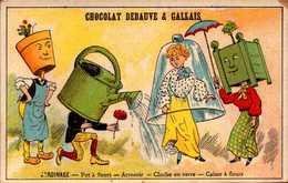 1 Chromos Anthropomorphe Jardinage - Chocolat Debauve Gallais - Bill-536 - R/V - Other