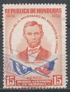 Honduras 1959. Scott #C295 (U) Birth Sesquicentennial Of Abraham Lincoln - Honduras