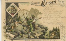 AUTRICHE - TYROL - Gruss Aus Den Bergen (1898) - Autriche