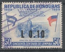 Honduras 1964. Scott #C318 (U) Abraham Lincoln, Gettysburg Address * - Honduras