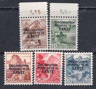 Suisse Service N° 270 / 74 XX, Les 5 Valeurs Sans Charnière, TB - Officials