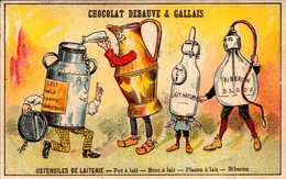 1 Chromos Anthropomorphe - Ustensiles De Laiterie - Chocolat Debauve Gallais - Bill-541 - R/V - Other