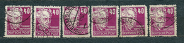 Germany, Soviet Zone 1948, MiNr 223 (or DDR 336) DURCHSTOCHEN, Used (17) - Lot Of 6 Stamps - Catalogue Value: 21 Euro - Zone Soviétique
