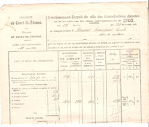 Avertissement Extrait Des Rôles Des Contributions Directes Commune De Court-Saint-Etienne En 1903 PR4477 - Belgique
